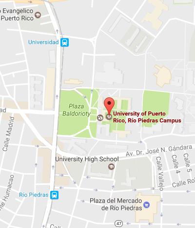 Cómo llegar a la UPR-Río Piedras / How to get to the UPR-Rio Piedras