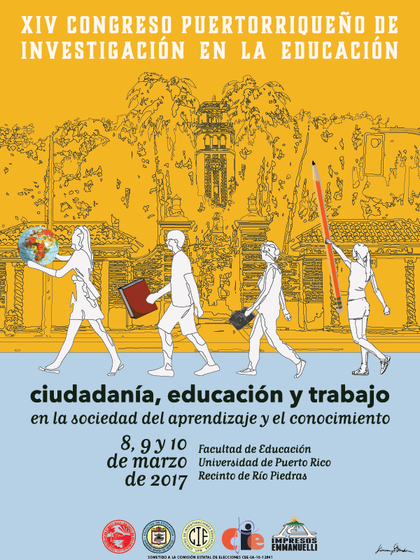 Cartel del XIV Congreso de Investigación en la Educación