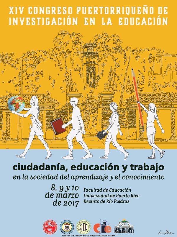 Cartel del XIV Congreso de Investigación en la Educación